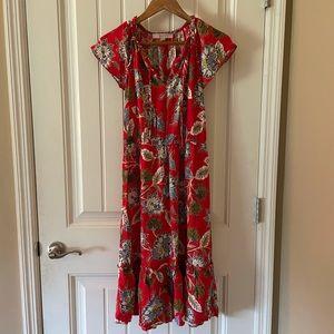 LOFT Midi Boho Dress